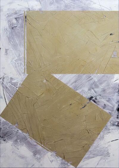Ivo Stoyanov, 'Equal Neutrals No 1 - Warm beige blocks on a background of smokey grey', 2020