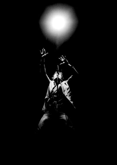 Richard E. Aaron, 'Bruce Springsteen 1980 Black and White Concert Light on Hahnemuehle Paper', 1980