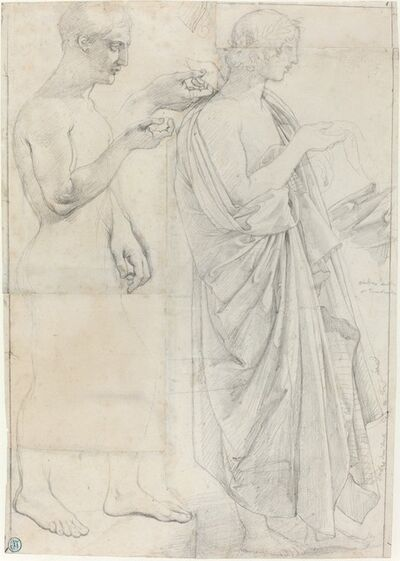 Jean-Auguste-Dominique Ingres, 'Two Studies of Virgil', ca. 1812 and c. 1825
