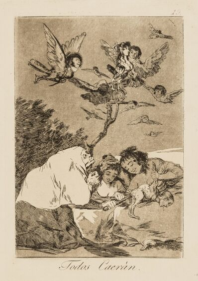 Francisco de Goya, 'Nine plates from 'Los Caprichos', the Second Edition'