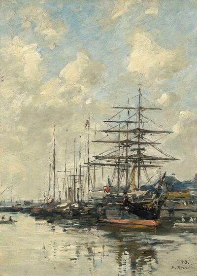 Eugène Boudin, 'Le Havre, Sailboats in the Port', 1883