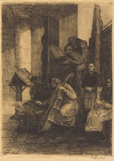 Alphonse Legros, 'Choir in a Spanish Church (La choeur d'une eglise espagnole)', 1860