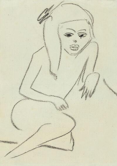 Ernst Ludwig Kirchner, 'Hockende Fränzi', 1910