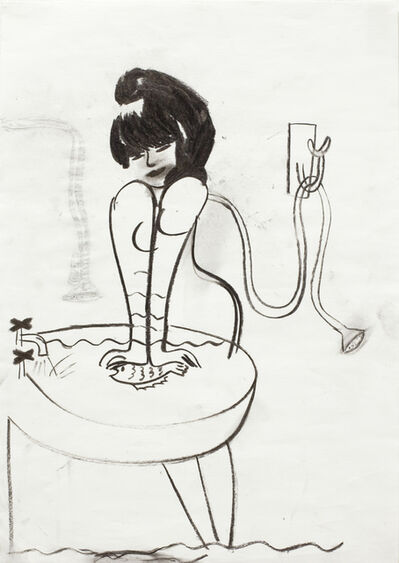 Helene Billgren, 'dränka fisk ', 1992