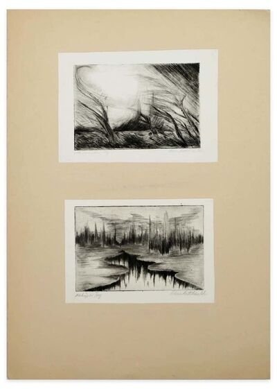 Unknown, 'Two Lake Landscapes', 1970s