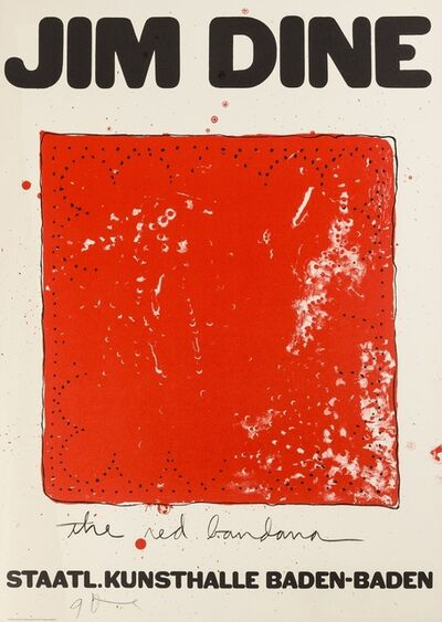 Jim Dine, 'The Red Bandana', 1971