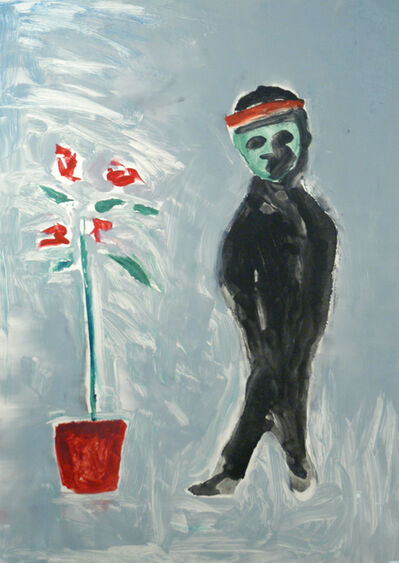 N. Scott Momaday, 'Death As a Child With Rose Tree', ca. 2006