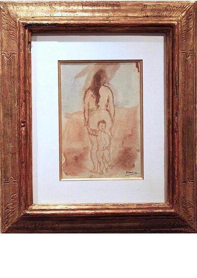 Pablo Picasso, 'Femme nue vue de dos avec enfant', 1906