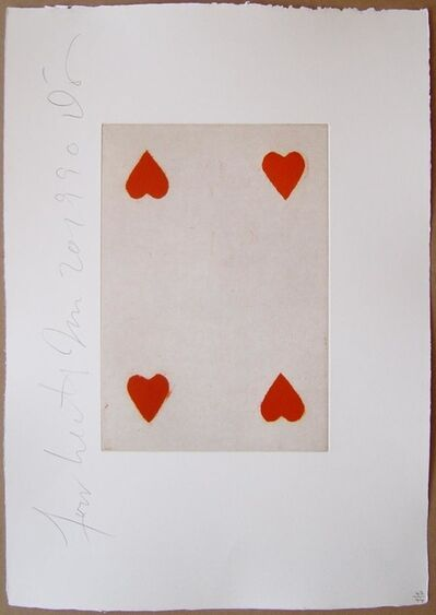 Donald Sultan, 'Playing Cards (Four of Hearts)', 1990