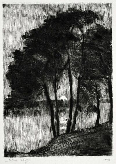 Lesser Ury, 'Sunset on the Grunewaldsee', 1910