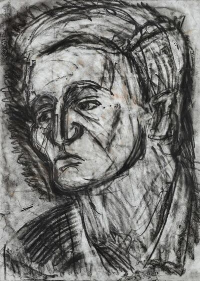 Leon Kossoff, 'Head of John Lessore', 1988