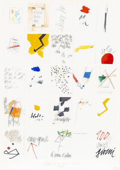 Emilio Tadini, 'Progetti per un regalo a Roberto', 1977