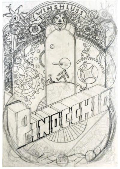 Winshluss, 'Pinocchio (Projet pour couverture) ', 2008
