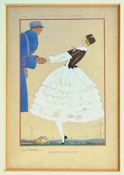 Georges Lepape, 'Permissionaire', 1919