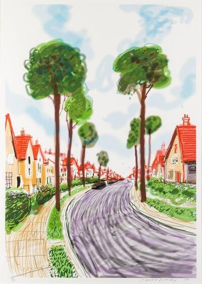 David Hockney, 'Cardigan Road, Bridlington', 2008
