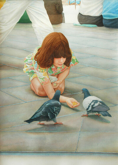 Robert Fleisher, 'Girl with Pigeon', 1978