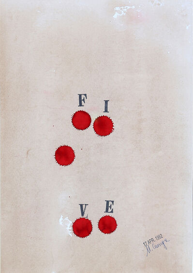 Ugo Carrega, 'Five', 1962
