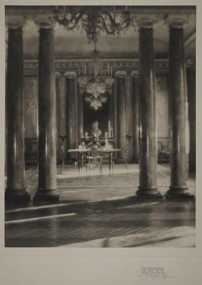 Adolf de Meyer, 'Dining room in the Vaneau, Paris'