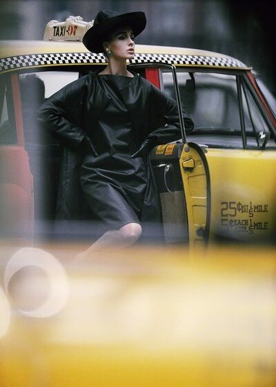 William Klein, 'Antonia + Yellow Taxi, New York', 1962