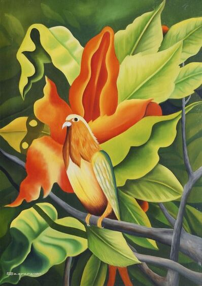 Clemente Segrera, 'Exotic bird in a tree', 2017