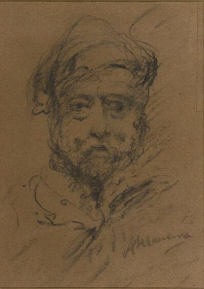 Antonio Mancini, 'Self-portrait with hat'