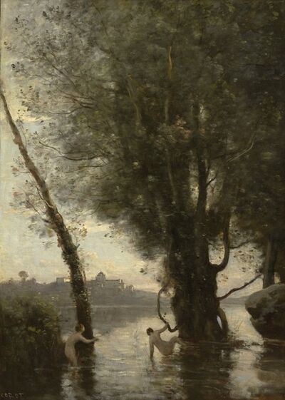 Jean-Baptiste-Camille Corot, 'Bathers of the Borromean Isles'