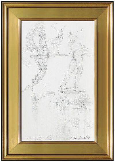 Richard MacDonald, 'Richard MacDonald Original Drawing Cirque Du Soleil Signed Sculpture Study Art', 21st Century