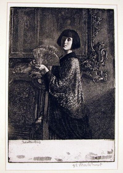 Gerald Leslie Brockhurst, 'L'Eventail (The Fan)', 1926