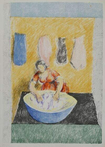 Duncan Grant, 'Washerwoman', 1973-74