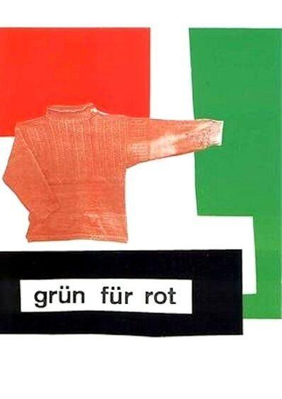 Rosemarie Trockel, 'grün für rot', 1980-1990