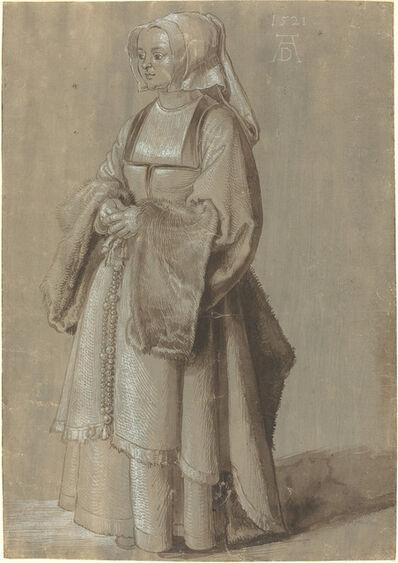Albrecht Dürer, 'Young Woman in Netherlandish Dress', 1521