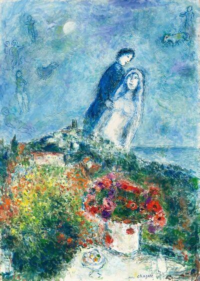 Marc Chagall, 'Les fiancés aux anémones', 1979