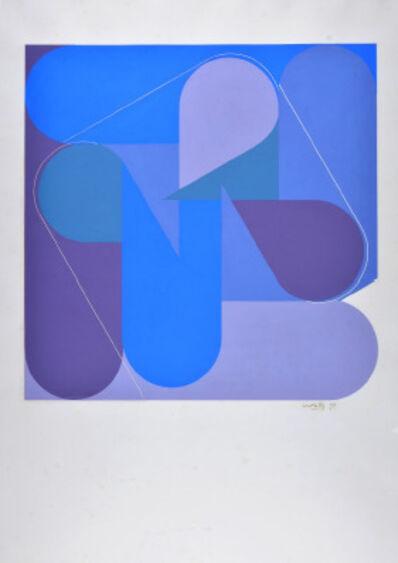 Luis Wells, 'Sin título (Composición en Azul y Lila)', ca. 1970