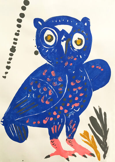 "Apostolos Chantzaras, 'Ambrosia, Owl #9, from ""The Wise Guys"" series', 2017"