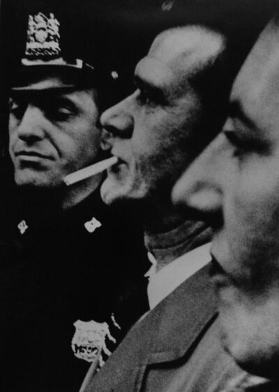 William Klein, '2 profiles + cop', 1955