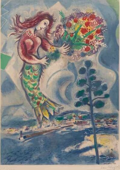 After Marc Chagall, 'Sirene au Pine (Siren with Pine), (from Nice & the Cote d'Azur)', 1967