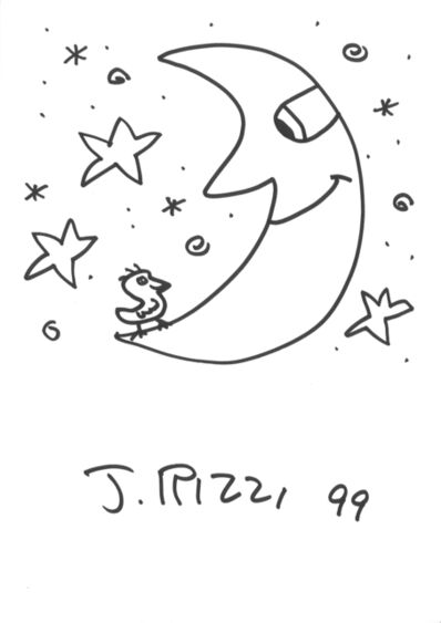 James Rizzi, 'Moon (after James Rizzi)', 1999