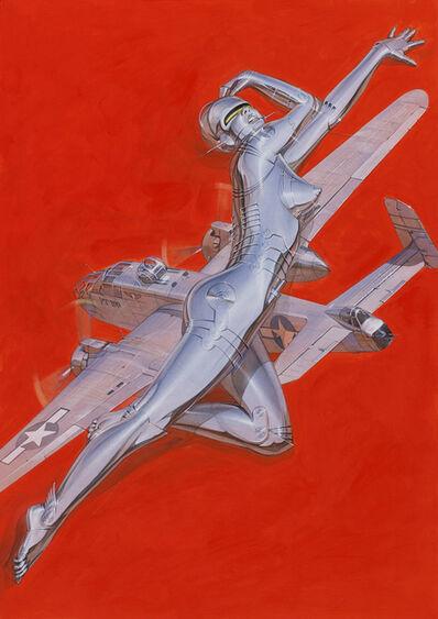 Hajime Sorayama, 'Red Plane Sexy Robot', 2018