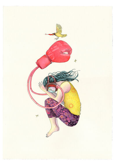 """Delphine Lebourgeois, 'Totem """"Red Glove""""', 2020"""