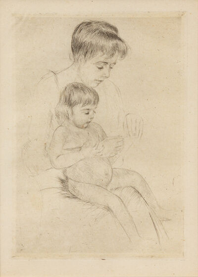 Mary Cassatt, 'The Manicure (printed after 1926)'