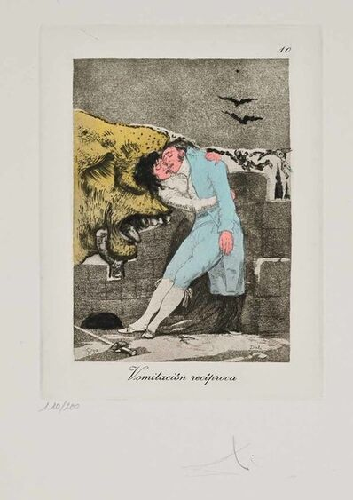 Salvador Dalí, 'Vomitacion reciproca (Les Caprices de Goya de Dalí, #10)', 1977