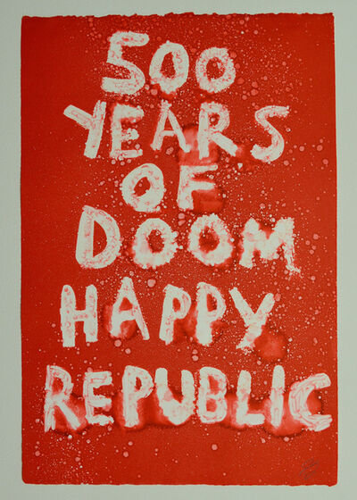Edgar Heap of Birds, '500 YEARS OF DOOM HAPPY REPUBLIC', 2019