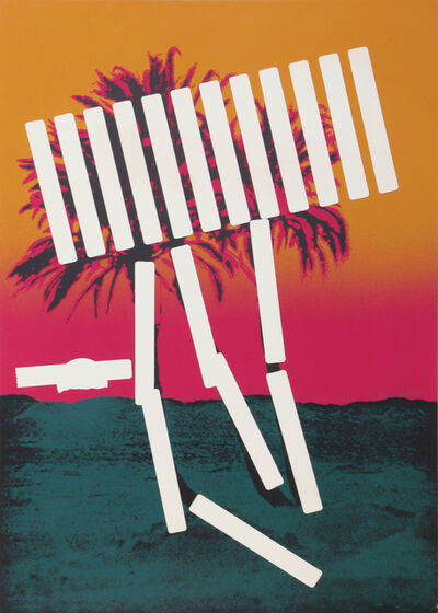 Menashe Kadishman, 'Pink Palm', 1979