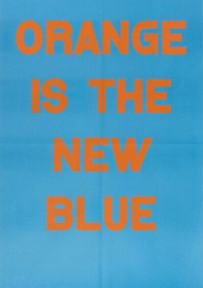 Jeremy Deller, 'Orange Is The New Blue', 2017