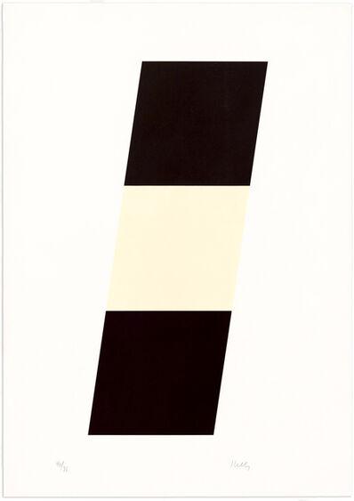 Ellsworth Kelly, 'Back/White/Black', 1971