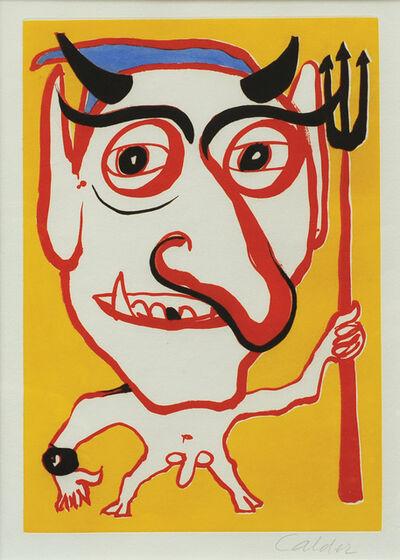Alexander Calder, 'Self Portrait of the Artist portrayed as the Devil', 1972