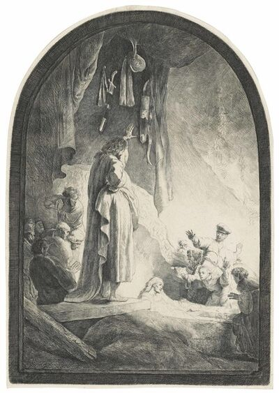 Rembrandt van Rijn, 'The Raising of Lazarus: the larger plate', circa 1632
