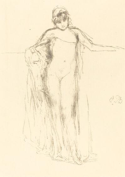 James Abbott McNeill Whistler, 'Draped Model Standing'