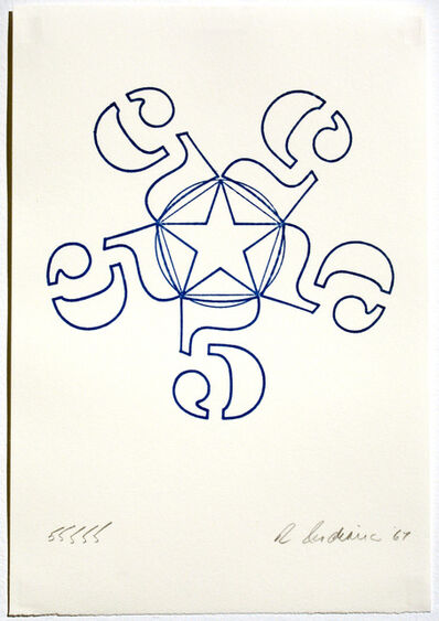 Robert Indiana, '55555, Stamped Indelibly ', 1967
