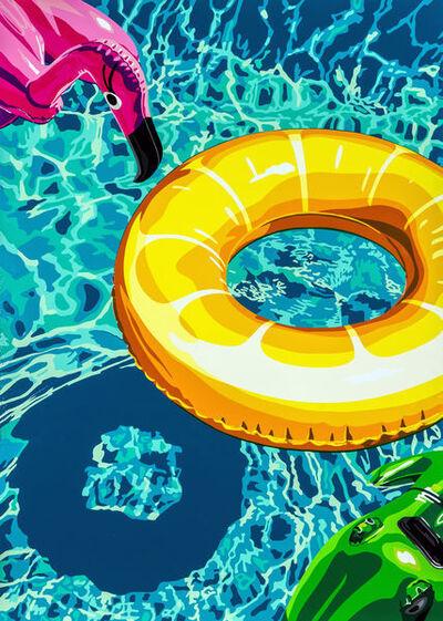 Joel Clark, 'Lilos on Swimming Pool 2', ca. 2017